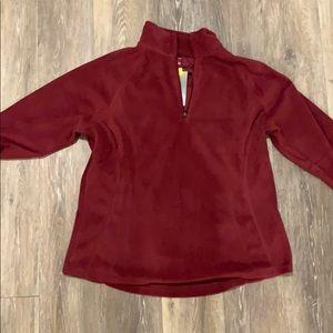 Dark pink fleece jacket